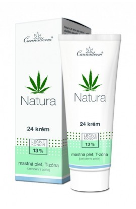 Cannaderm Natura 24 cream for oily skin 75 g