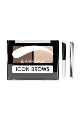 ART-VISAGE Double eyebrow shadows ICON BROWS with a brush and tweezers 422