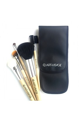 ART-VISAGE Case for 5 brushes (leather)