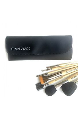 ART-VISAGE Case for 7 brushes (leather)