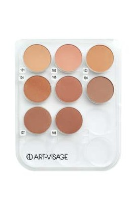 ART-VISAGE powder by skin type 12 pcs (2 kinds of powder with 6 tones)