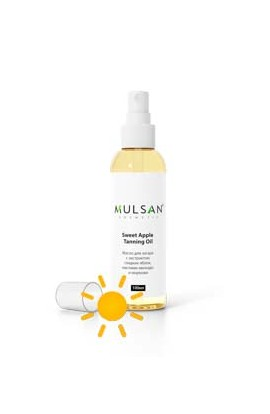 Mulsan Suntan oil with sweet apple extract, avocado oil and carrot 100 ml
