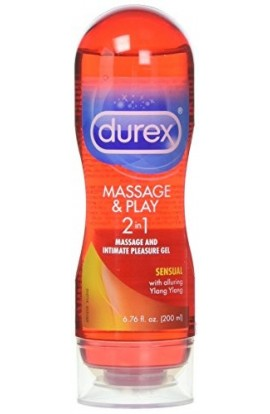 Durex Massage & Play 2 in 1 Lubricant Sensual, 6.76 oz