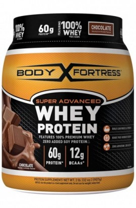 Body Fortress Super Advanced Whey Protein, Chocolate Protein Supplement Powder to Build Lean...