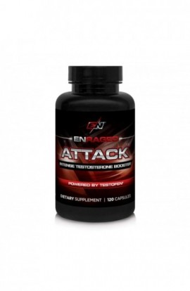 Enraged Nutrition Attack Intense Testosterone Booster Powered by Testofen | MenТs Testosterone...