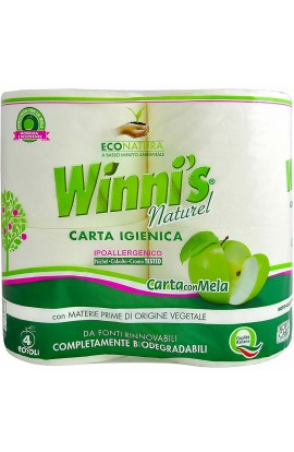 WINNI'S NATUREL - 4-roll organic toilet paper