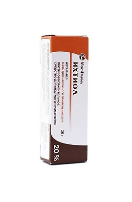 Borisov Medications Plant Ichthyol ointment 20% 30 gr.