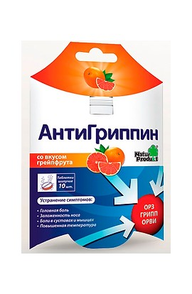 Natur Product Anti-grapefruit with a taste of grapefruit 10 tablets