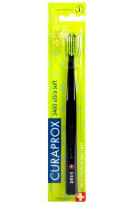 Ultra soft toothbrush (black and green) CS Ultra Soft 5460 Flower edition 1pc Curaprox