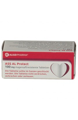 Aliud Pharma, ASS AL Protect 100mg magensaftresistente Tabletten,  (100 tab)