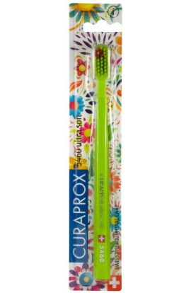 Ultra soft toothbrush (green + green-red) CS Ultra Soft 5460 Hawaii edition 1pcs Curaprox