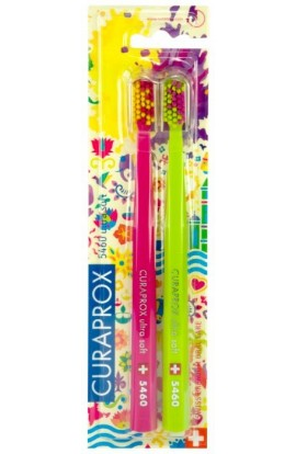 Ultra soft toothbrush (red + green) CS Ultra Soft 5460 2-pack HOLI SUMMER edition 2pcs Curaprox