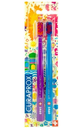 Ultra soft toothbrush (purple + blue) CS Ultra Soft 5460 2-pack HOLI SUMMER edition 2pcs Curaprox