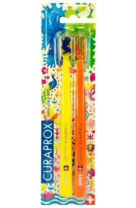 Ultra soft toothbrush (yellow + orange) CS Ultra Soft 5460 2-pack HOLI SUMMER edition 2pcs Curaprox