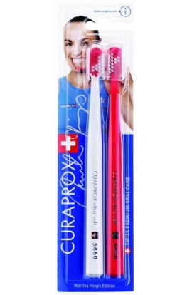 Ultra soft toothbrush (white + red) CS Ultra Soft 5460 2-pack Martina Hingis edition 2pcs Curaprox