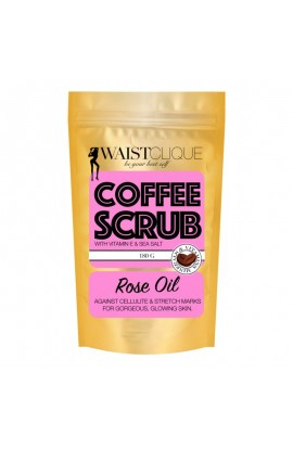 WaistClique WaistScrub Coffee peeling with rose oil