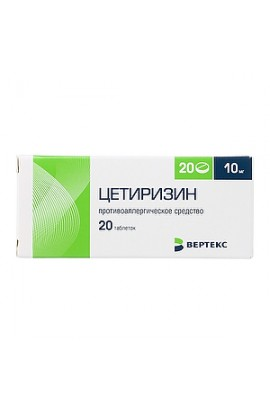 Vertex Cetirizine tablets 10 mg, 20 pcs.