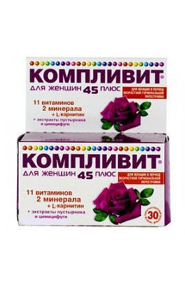 Pharmstandard-Ufavita Complivit for women 45+, tablets, 30 pcs.