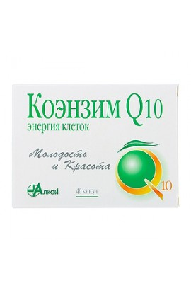 Alcoi Co. Coenzyme Q10 Energy cells, capsules 500 mg, 40 pcs.