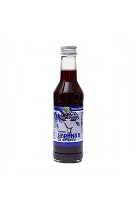 Bioinventics Bilberry syrup on fructose 250 ml, pack.