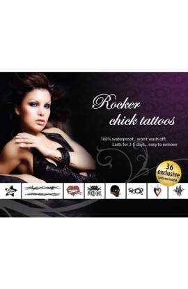 AdultBodyArt Set of sexy tattoos - ROCKER CHICK