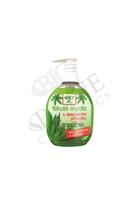 Bione Cosmetics Bio Cannabis liquid soap with 260 ml disinfectant
