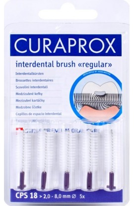Dental brushes 2-8mm CPS 15 regular refill 5pcs Curaprox