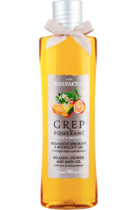 Manufaktura  Relaxing shower and bath gel Grep & Orange  215 ml
