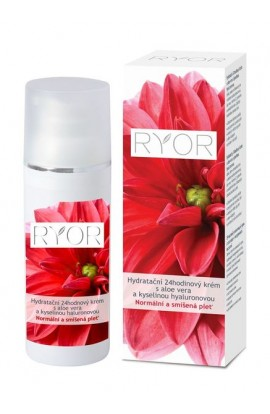 RYOR Hydrating 24-hour cream with aloe vera and hyaluronic acid. Normal and mixed skin. 50 ml.