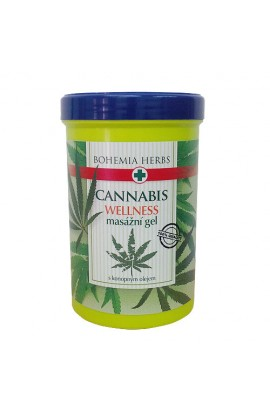 BOHEMIA HERBS - CANNABIS MASSAGE GEL 380 ML - WITH HEMP OIL