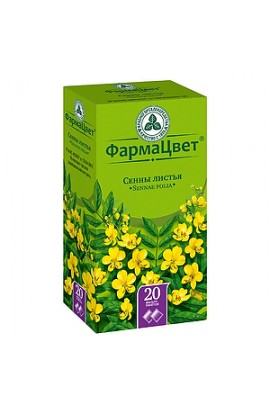 PharmaColor of Senna leaves, filter packets, 1.5 g, 20 pcs.