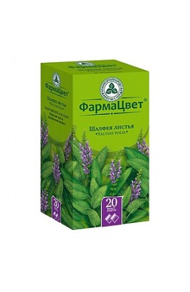 FarmaCvet Sage leaves, filter packets 1.5 grams, 20 pcs.