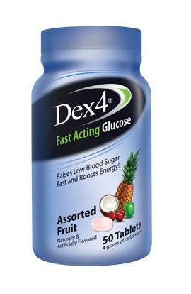Amgmedical, Dex4 Glucose Tablet Assorted Fruit Bottles, 50 tab