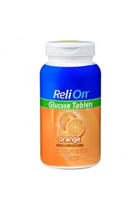 ReliOn,Orange Glucose Tablets, 50 tab