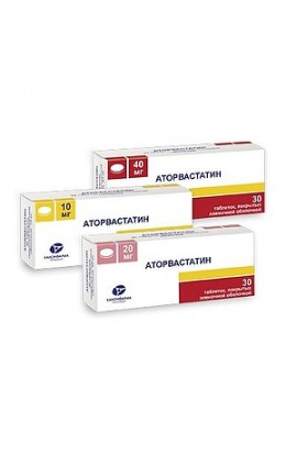 Atorvastatin MS tablets coated. 20 mg, 30 pcs.
