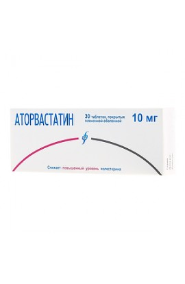 Atorvastatin MS tablets coated. 10 mg, 30 pcs.