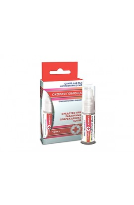 Factory of Decorative Cosmetics, Ambulance Spray for wounds, antiseptic, 10 ml