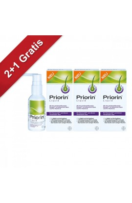 Priorin Liquid Pump Solution for Hair Loss (3x50 ml)