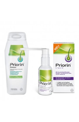 Priorin Shampoo and Liquid Pump Solution for Hair Loss (1 pc)