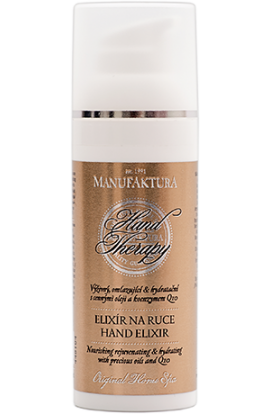 Manufaktura, Nourishing rejuvenating & moisturizing hand elixir with valuable oils and coenzyme Q10, 50 ml