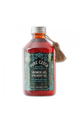 PURE CZECH, Shower Gel with Beer and Natural Peat and Grain Extracts, 320ml