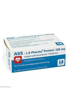 ASS, 1 A Pharma, Protect 100 mg magensaftresistente Tabletten 100 pcs
