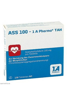 ASS 100 1A Pharma TAH 100 pcs