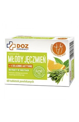 DOZ PRODUCT, Młody Jęczmień, Young barley, tablets in a shell, 60 pieces