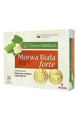 Morwa Biała Forte, tablets in the shell
