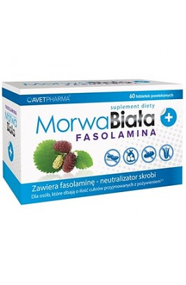 Morwa Biała plus Fasolamina, White Mulberry plus Fasolamine, coated tablets, 60 pieces