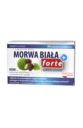 Morwa Biała Plus Forte, coated tablets, 60 pieces