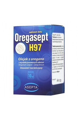 Oregasept H97, oregano oil, 10 ml