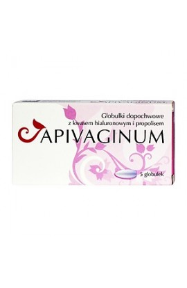Apivagin, vaginal balls with hyaluronic acid and propolis, 5 pcs.