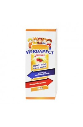 Herbapect Junior, syrup, raspberry flavor, 120 g